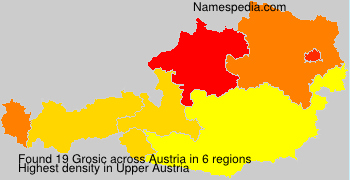 Surname Grosic in Austria