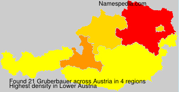 Surname Gruberbauer in Austria