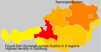 Surname Grunwald in Austria