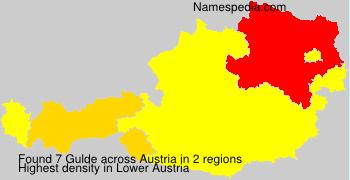 Familiennamen Gulde - Austria