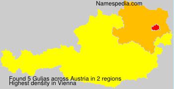 Surname Guljas in Austria