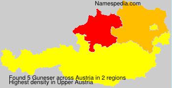 Surname Guneser in Austria