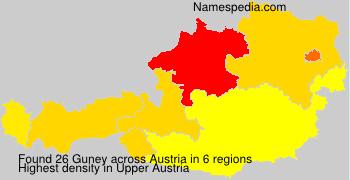 Surname Guney in Austria