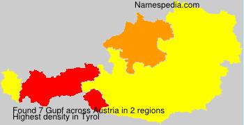 Surname Gupf in Austria