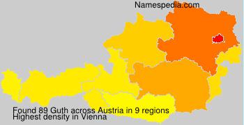 Surname Guth in Austria