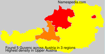 Familiennamen Guvenc - Austria