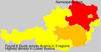 Surname Guzik in Austria