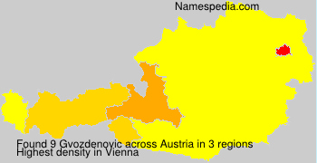 Surname Gvozdenovic in Austria