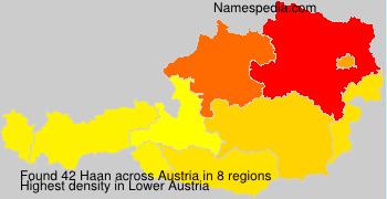 Familiennamen Haan - Austria