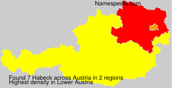 Surname Habeck in Austria