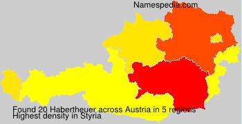 Surname Habertheuer in Austria
