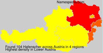 Surname Hafenscher in Austria