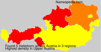 Familiennamen Haferkorn - Austria