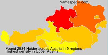 Surname Haider in Austria