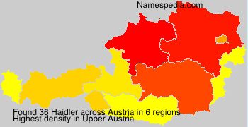 Surname Haidler in Austria