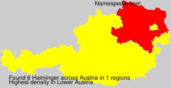 Surname Haiminger in Austria