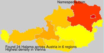 Surname Halama in Austria
