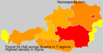 Surname Hall in Austria