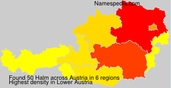 Surname Halm in Austria