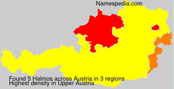 Surname Halmos in Austria