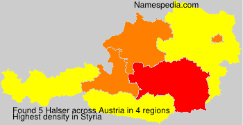 Familiennamen Halser - Austria