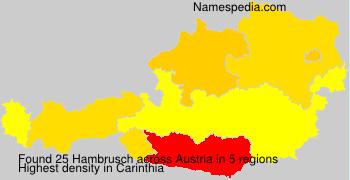 Familiennamen Hambrusch - Austria