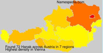 Surname Hanak in Austria