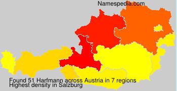 Familiennamen Harfmann - Austria