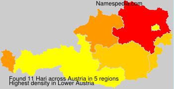 Surname Hari in Austria