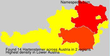 Surname Hartensteiner in Austria