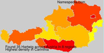 Surname Hartwig in Austria