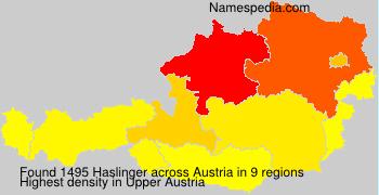 Familiennamen Haslinger - Austria