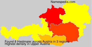 Surname Haslmaier in Austria