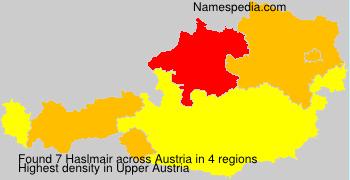 Surname Haslmair in Austria
