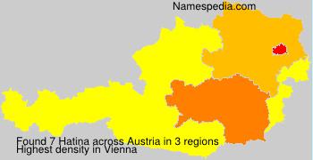 Familiennamen Hatina - Austria