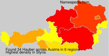Surname Hauber in Austria