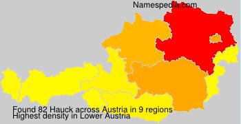 Surname Hauck in Austria