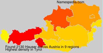 Familiennamen Hauser - Austria