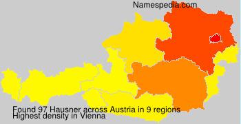 Surname Hausner in Austria
