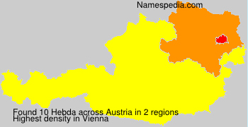 Surname Hebda in Austria