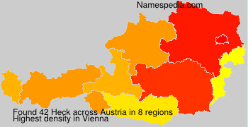 Surname Heck in Austria