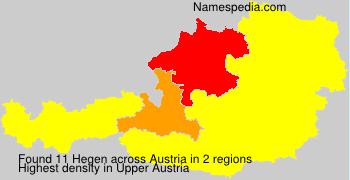 Familiennamen Hegen - Austria
