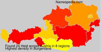 Surname Heid in Austria