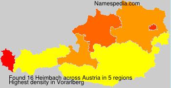 Surname Heimbach in Austria