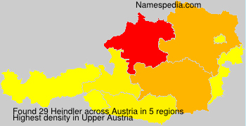 Surname Heindler in Austria