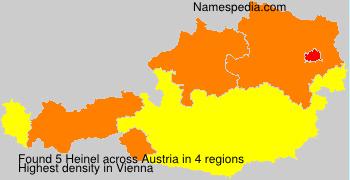 Surname Heinel in Austria