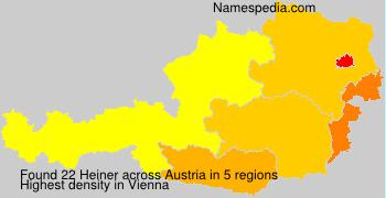 Surname Heiner in Austria