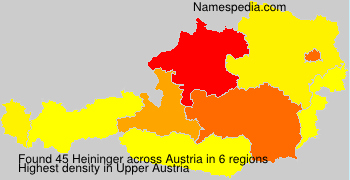 Surname Heininger in Austria
