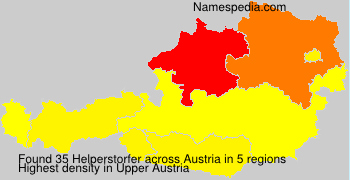 Surname Helperstorfer in Austria