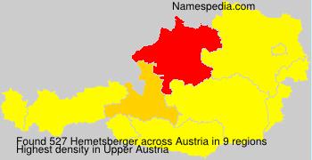 Surname Hemetsberger in Austria